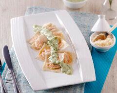 Homemade Ravioli Saus Brokoli